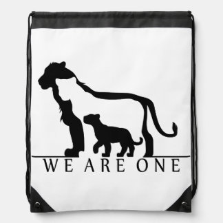 Familia del león (versión blanca) mochilas