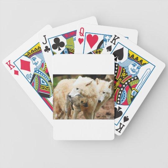 familia del lobo en movimiento baraja de cartas bicycle