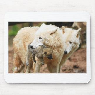 familia del lobo en movimiento tapetes de raton
