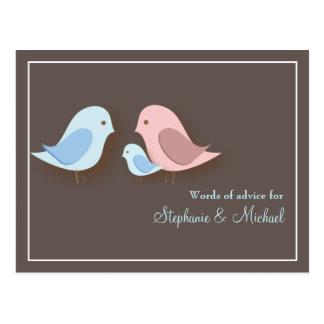 Familia del Lovebird de la tarjeta de los consejos Tarjeta Postal