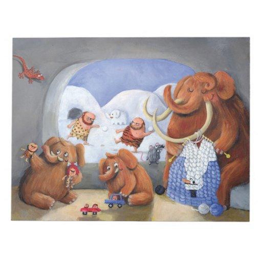 Familia del mamut lanoso en edad de hielo blocs