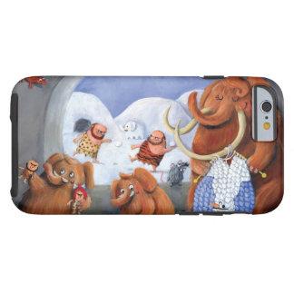 Familia del mamut lanoso en edad de hielo funda de iPhone 6 tough