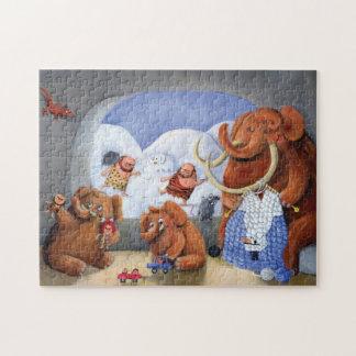 Familia del mamut lanoso en edad de hielo puzzles