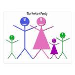 Familia del monstruo (2 muchachos, 1 chica) tarjeta postal
