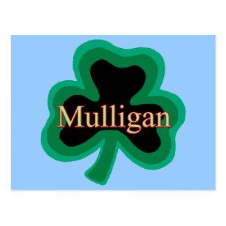 Familia del Mulligan Postal