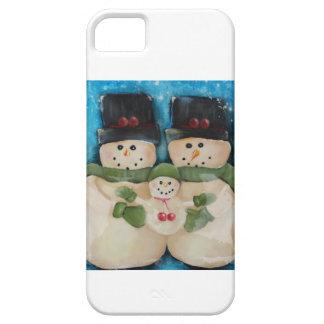 Familia del muñeco de nieve - cubierta del funda para iPhone SE/5/5s