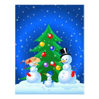 """Familia del muñeco de nieve folleto 8.5"""" x 11"""""""