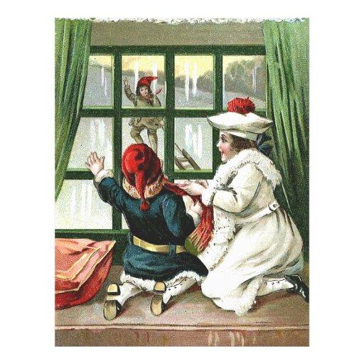 Familia del navidad tarjetas publicitarias