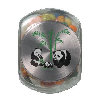 Familia del oso de panda jarras de cristal jelly bely