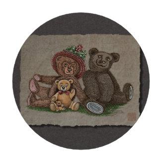 Familia del oso de peluche fichas de póquer
