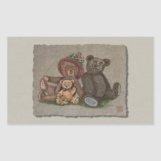 Familia del oso de peluche rectangular altavoces