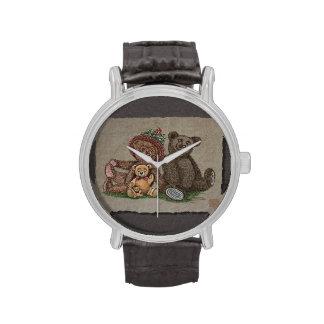 Familia del oso de peluche relojes de mano
