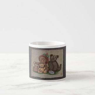Familia del oso de peluche taza de espresso