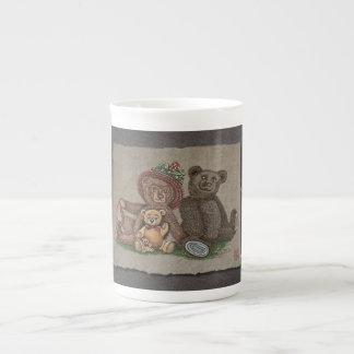 Familia del oso de peluche taza de té