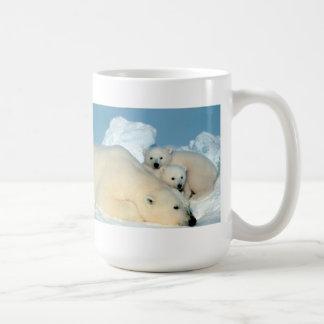 Familia del oso polar taza