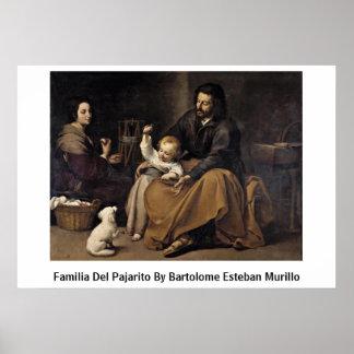 Familia Del Pajarito By Bartolome Esteban Murillo Impresiones