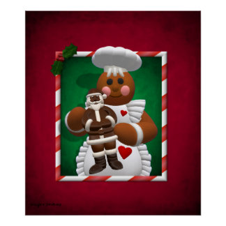 Familia del pan de jengibre: Chica del chocolate Póster