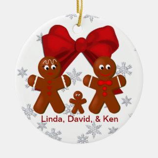 Familia del pan de jengibre de ornamento del navid ornamento para reyes magos