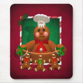 Familia del pan de jengibre: Panadero divertido Mouse Pads