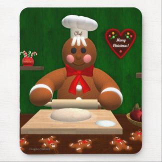Familia del pan de jengibre: Pequeño panadero Alfombrillas De Raton