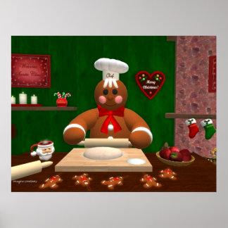 Familia del pan de jengibre: Pequeño panadero Póster