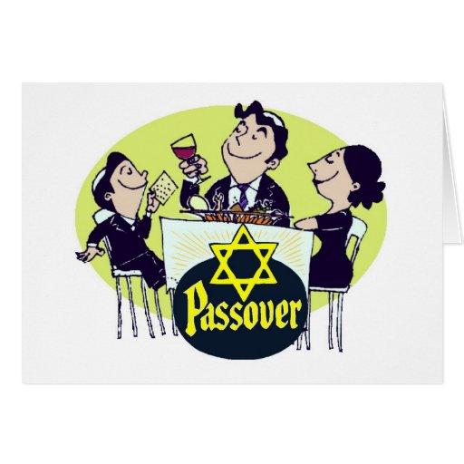 Familia del Passover del vintage Tarjeta De Felicitación