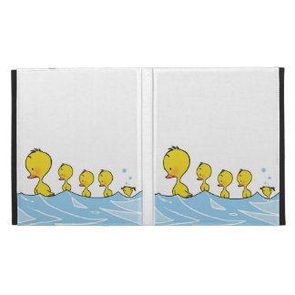 Familia del pato de la natación