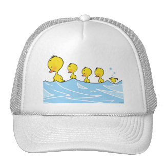 Familia del pato de la natación gorras