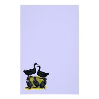Familia del pato del Cayuga Papelería De Diseño