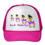 Familia del pato gorras de camionero
