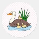 Familia del pato pegatinas redondas