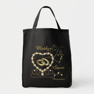 Familia del personalizar y banquete de boda de los bolsa tela para la compra