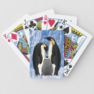 familia del pingüino barajas de cartas