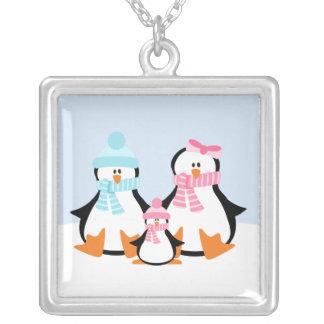 Familia del pingüino collar plateado
