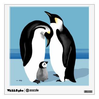 Familia del pingüino de emperador vinilo