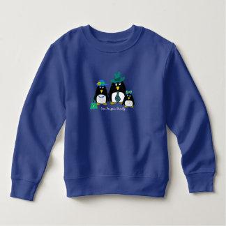 Familia del pingüino de la diversión de sudadera