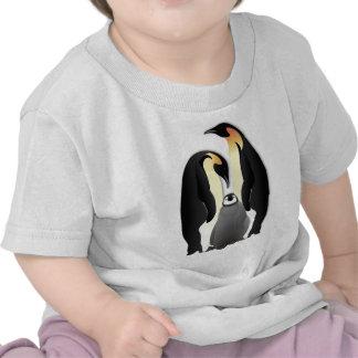 familia del pingüino camisetas