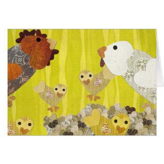 Familia del pollo tarjeta de felicitación