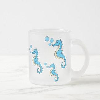 Familia del Seahorse Taza De Cristal