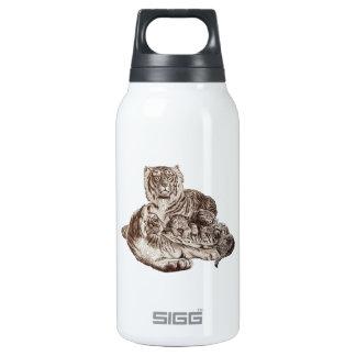Familia del tigre botella isotérmica de agua