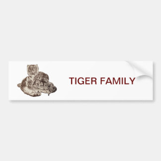 Familia del tigre pegatina para auto
