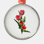Familia del tulipán ornamento de navidad
