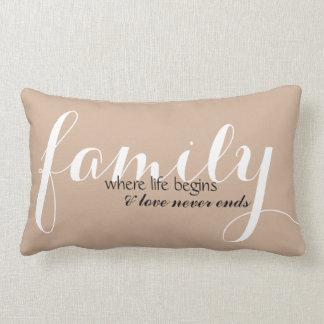 Familia donde la vida comienza el amortiguador cojín