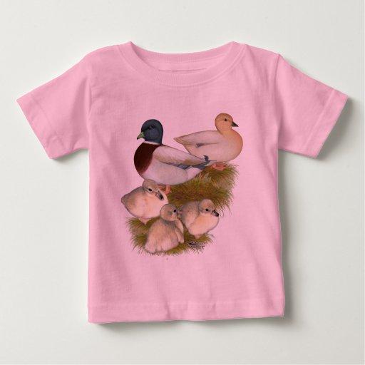 Familia en colores pastel del pato de la llamada remera