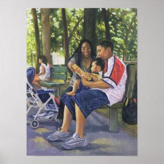 Familia en el parque 1999 póster