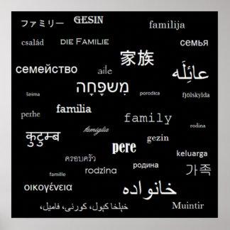 """""""Familia"""" en todo el mundo Póster"""