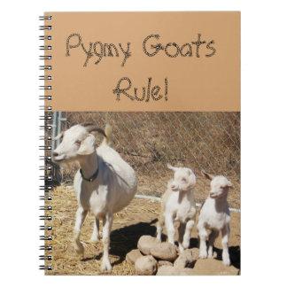 Familia enana de la cabra libros de apuntes con espiral