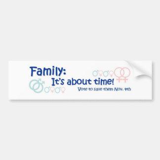 Familia-es sobre tiempo no en 8 pegatina para auto