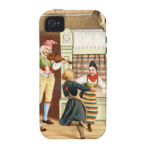 Familia escandinava tradicional iPhone 4 funda