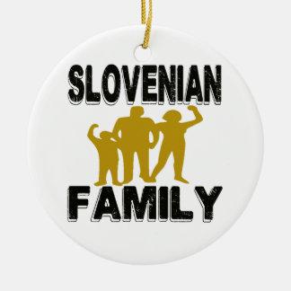 Familia eslovena adorno redondo de cerámica